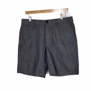 Howe charcoal gray print cotton shorts